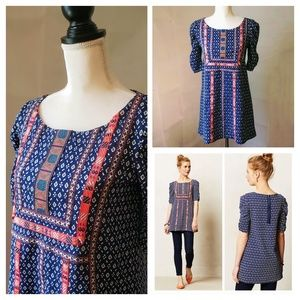 NWT! Anthro, Akemi+Kin Navy Seva Embroidered Tunic